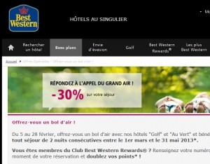 code promo best western 30 pourcent