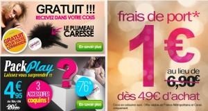 Coffret Sexy Surprise à seulement 4,95 euros (au lieu de 20 euros) + cadeau + livraison à 1 euros
