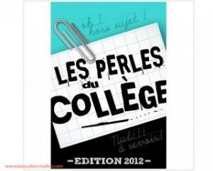 Ebook Gratuit : les perles du collège