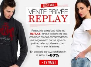 Moitie prix Jeans et T-Shirt Replay chez Vet'Affaires (Jeans à 49,99 euros, T-Shirt 19,99 euros)