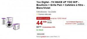 Grille-Pain + Cafetière + Bouilloire Yoo Digital à 45 euros seulement