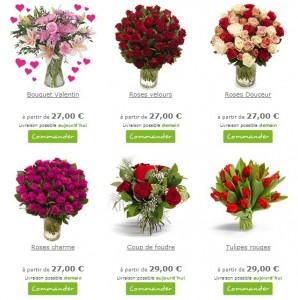 Bouquet pas cher St Valentin