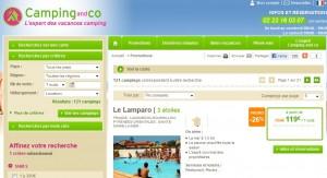 Camping  a seulement 120 euros les 7 nuits en Mobilhome ou 56 euros l'emplacement