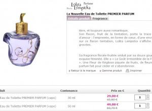 PROMO ! Lolita Lempicka la Nouvelle Eau de Toilette PREMIER PARFUM 30ml à 29,95 euros seulement