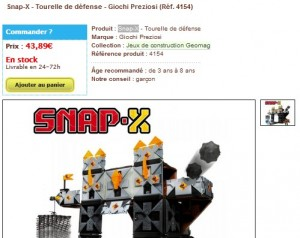 Snap-X - Tourelle de défense - Giochi Preziosi