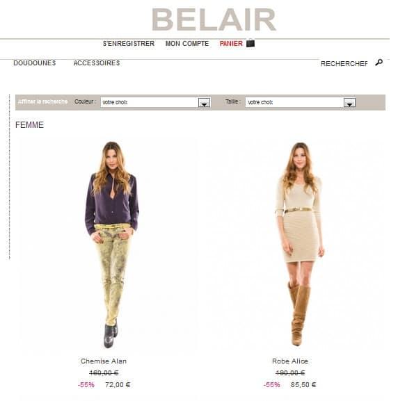 La célèbre marque pour femme Bel Air fait aussi les soldes et meme une  deuxieme dèmarque dans sa boutique en ligne 690e528a6c0