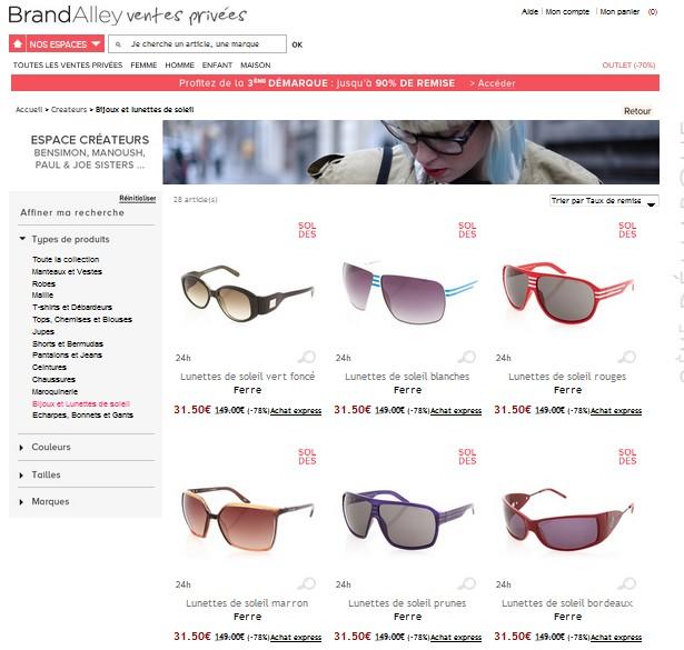 a6a9c3c6a2b12 Soldes lunettes de soleil Gianfranco Ferré à 35 euros au lieu de 149 euros