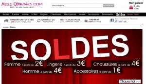 Soldes Misscoquines.com – Vêtements à partir de 2 euros, lingerie à partir 3 euros, chaussures à partir 4 euros…