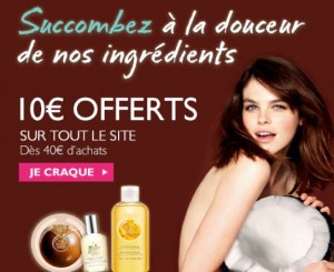 The Body Shop ! 10 euros offerts dès 40 euros d'achat