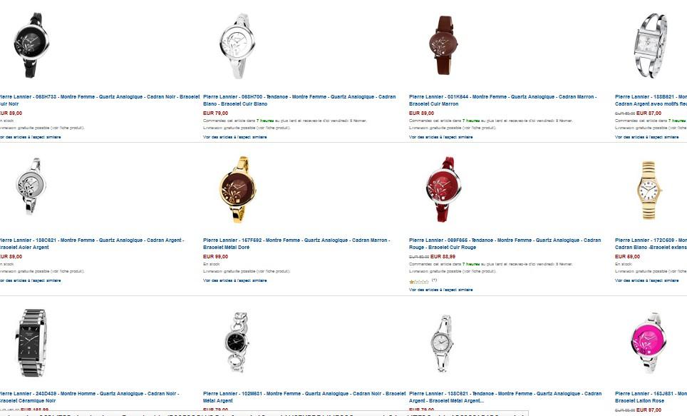 offre bracelet gratuit pour l achat d une montre pierre lannier. Black Bedroom Furniture Sets. Home Design Ideas