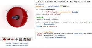 Vente flash Aspirateur Robot E.ZICOM e.ziclean
