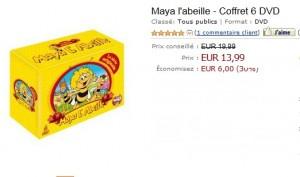 Vente Flash Coffret 6 DVD Maya l'abeille à seulement 13,99 euros