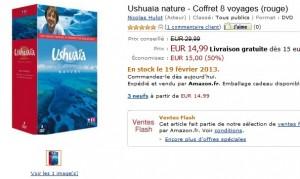 Vente flash coffret Ushuaïa (rouge) à moitié prix 14,99 euros