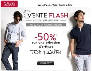 Vente Flash moins 50% sur vêtements Teddy Smith jusqu'à dimanche