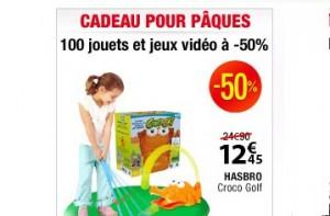 100 jouets et jeux vidéo à moitiés prix chez Auchan