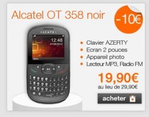 vente flash Alcatel OT 358 (port inclus) sans engagement