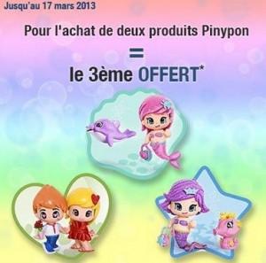 2 poupées Pinypon achetées = La 3ème gratuite