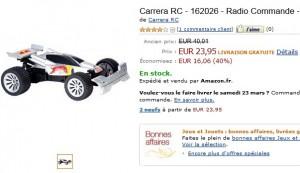 23,95 euros Buggy Red Bull radiocommandé Carrera RC