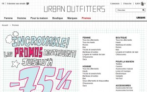 24h seulement ! 15 euros offerts pour 75 euros d'achat sur Urban Outfitters