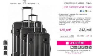 3 valises rigides à 126 euros (port inclus) aujourd'hui seulement