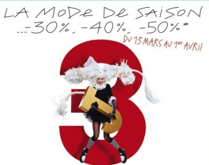 3J Galeries Lafayette moins 50%