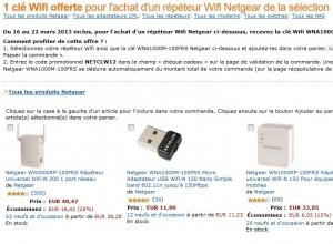 Répéteur Wifi- Netgear + clé Wi-Fi gratuite
