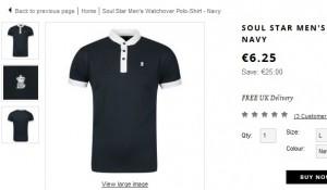 5,63 euros le Polo homme Soul Star (port inclus)