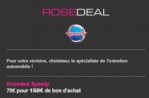 70 euros le bon d'achat Speedy de 150 euros