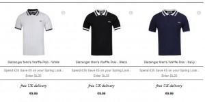 8,99 euros Polo homme Slazenger 3 coloris (port inclus)