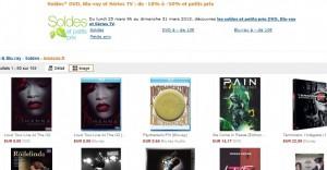 Blu-Ray et DVD en soldes chez Amazon