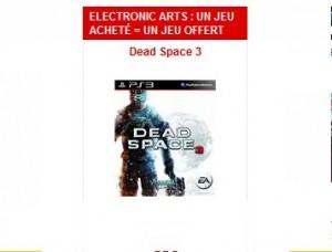 1 jeu Electronic Arts acheté = 1 jeu offert