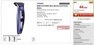 Aujourd'hui seulement Tondeuse Babyliss For Men rechargeable à seulement 45 euros (port inclus)