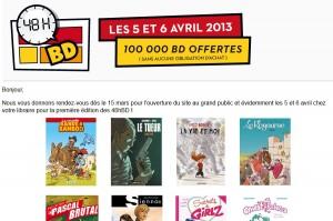 BD gratuite le 5 et 6 avril (sans obligation d'achat)