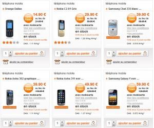 Bonnes affaires Téléphones portables reconditionnés chez Orange