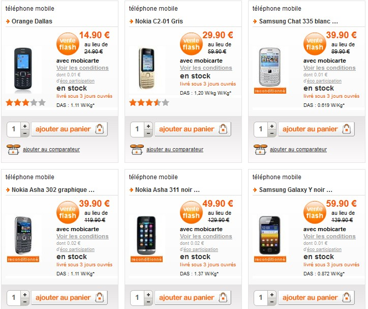 bonnes affaires t l phones portables reconditionn s chez orange. Black Bedroom Furniture Sets. Home Design Ideas