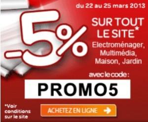 Code promo 5% sur Carrefour.fr