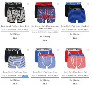 Code promo -50% boxer The Hut