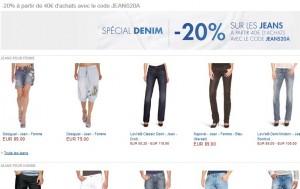 Code promo Amazon : -20% sur les jeans (à partir de 40 euros d'achats)