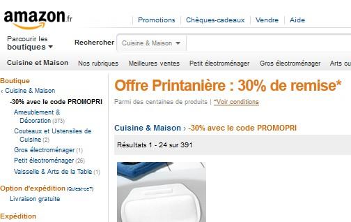 Code promo Amazon 30% de réduction sur articles Rangements, Salle de Bain, Repassage