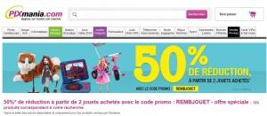 Code promo PIXMANIA : moins 50% de réduction immédiate sur les jouets