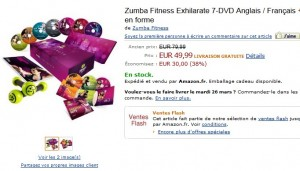 Coffret 7 DVD + 2 Sticks Toning + 3 CD Zumba Fitness Exhilarate à seulement 49,99 euros