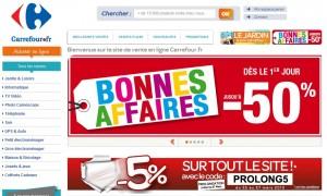 Dernier jour Code promo 5% sur Carrefour.fr