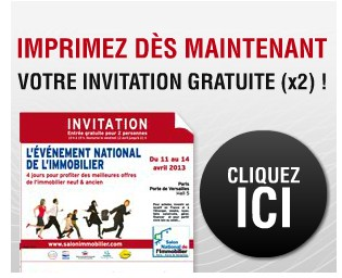 Invitations gratuites salon de l immobilier de paris 2013 - Foire de paris invitation ...