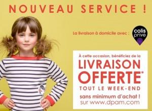 DPAM : Livraison offerte ce week-end Du Pareil Au Même (sans minimum)