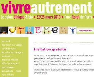 Invitation gratuite salon Vivre Autrement