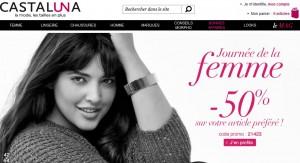 Journée de la Femme : -50% sur l'article le plus cher chez Castaluna
