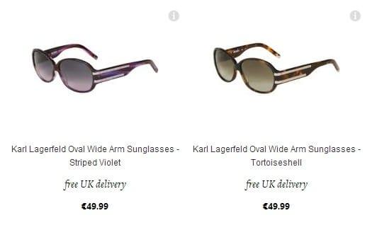 Lunettes de Soleil Karl Lagerfeld à 49,99 euros seulement (port inclus)