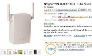 Moins de 40 euros le répéteur wifi Netgear –vente flash