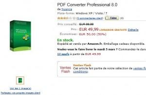 Moitié prix ! PDF Converter Professional 8.0 à seulement 49,99 euros