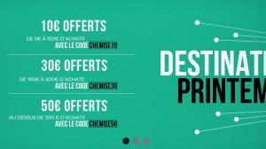 Offre spéciale : Chemise sur mesure à partir de 49 euros (code promo Saint Sens)!